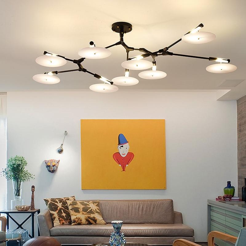 Потолочный светильник копия Branching Discs by Lindsey Adelman (11 плафонов, золотой)