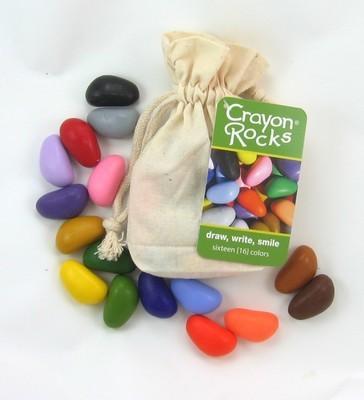 Мелки-камушки восковые, 16 штук (Crayon Rocks)