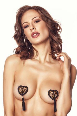 Леопардовые пэстис в форме сердечек с кисточками Ivy