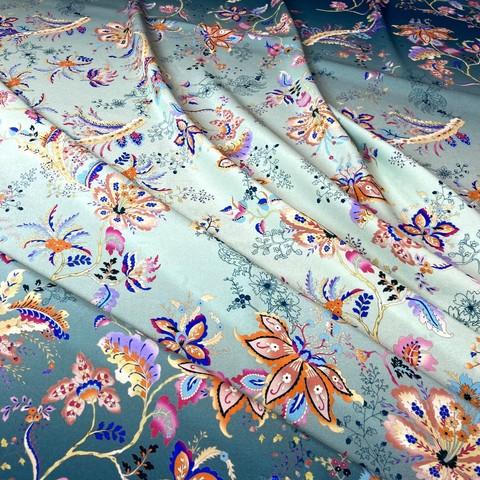 шелковый купон с цветами фото