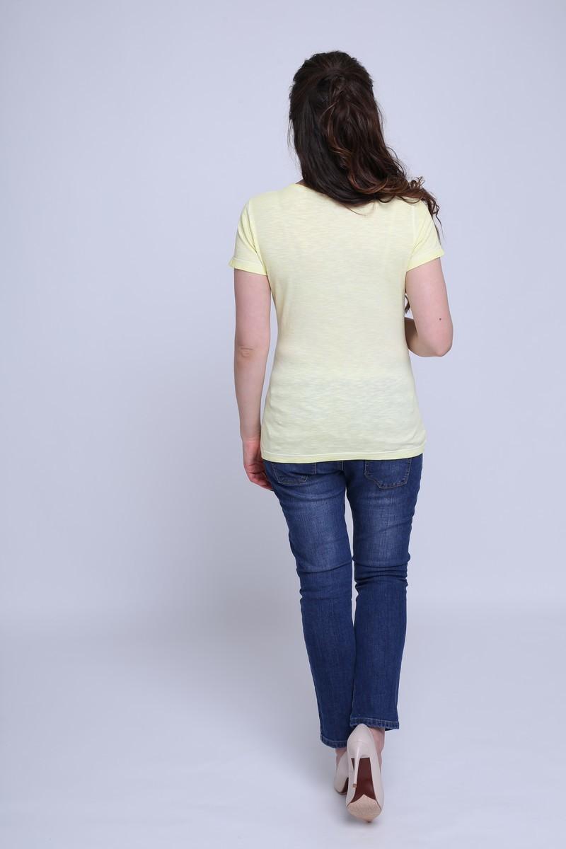 Футболка для беременных 09603 желтый