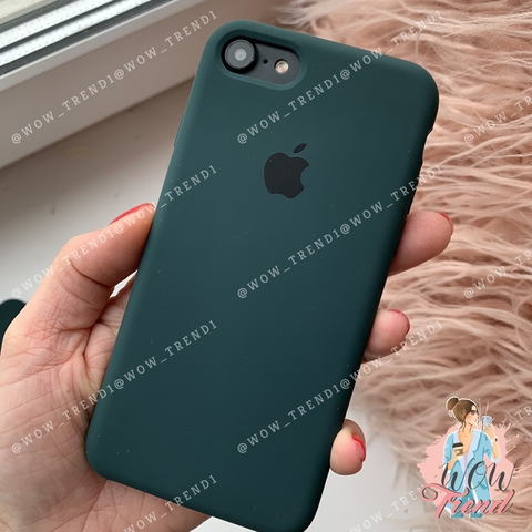 Чехол iPhone 7/8 Silicone Case /forest green/ зеленый лес 1:1