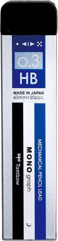 Грифели 0,3 мм Tombow Mono Graph MG HB