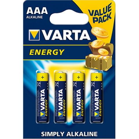 Батарейки Varta Energy LR03, AAA (4/80) BL