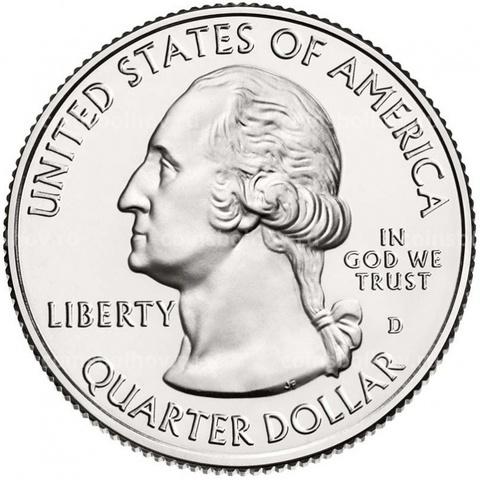 25 центов 43 - й парк США Вояджерс (двор D)