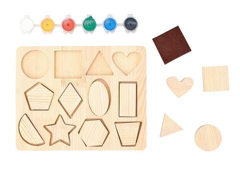 Развивающая игра Рамки-вкладыши для творчества Геометрия, Smile-Decor