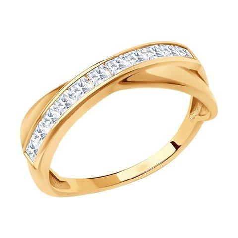 018629 - Кольцо из золота с фианитами