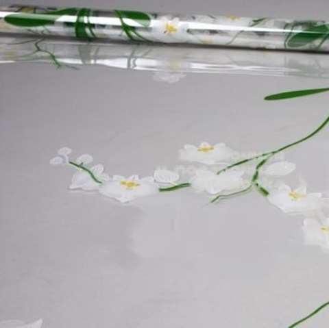 Пленка цветная Орхидея (размер:70см х 7м) Цвет:белый
