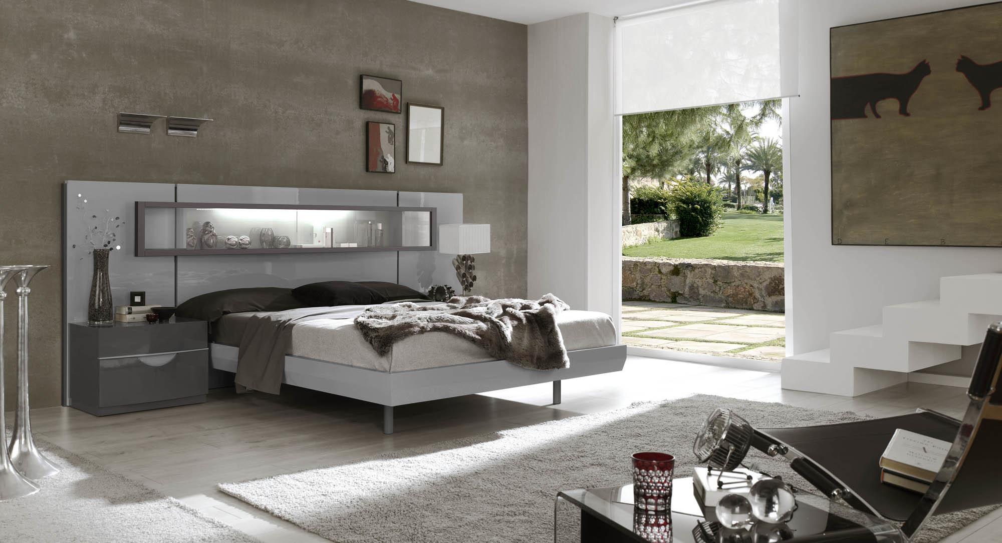 Спальня Fenicia Mobiliario 503 VITRINA Gris-Claro