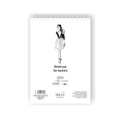 Альбом SM-LT Sketch for markers, A3, 50 л., белый спираль
