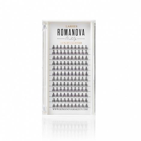 Ресницы пучки Romanovamakeup серия F 120шт