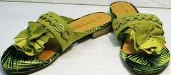 Красивые шлепки сандали летние женские Marco Tozzi 2-27104-20 Green.