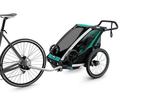 Картинка коляска Thule Chariot Lite2 изумрудная