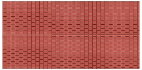 Декоративная плитка - 2 шт, (H0/ТТ)