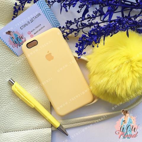 Чехол iPhone 6+/6s+ Silicone Case /yellow/ желтый 1:1