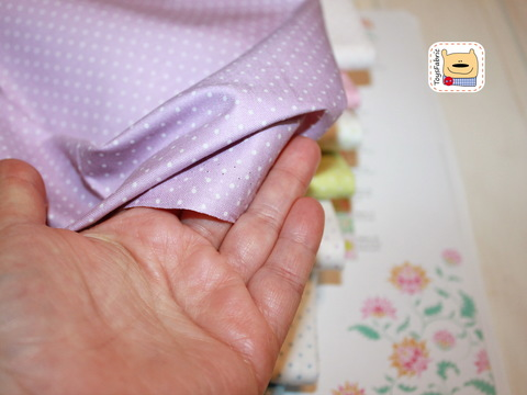 Набор тканей хлопок 51849 Точки пастель (45х35см/8шт.)