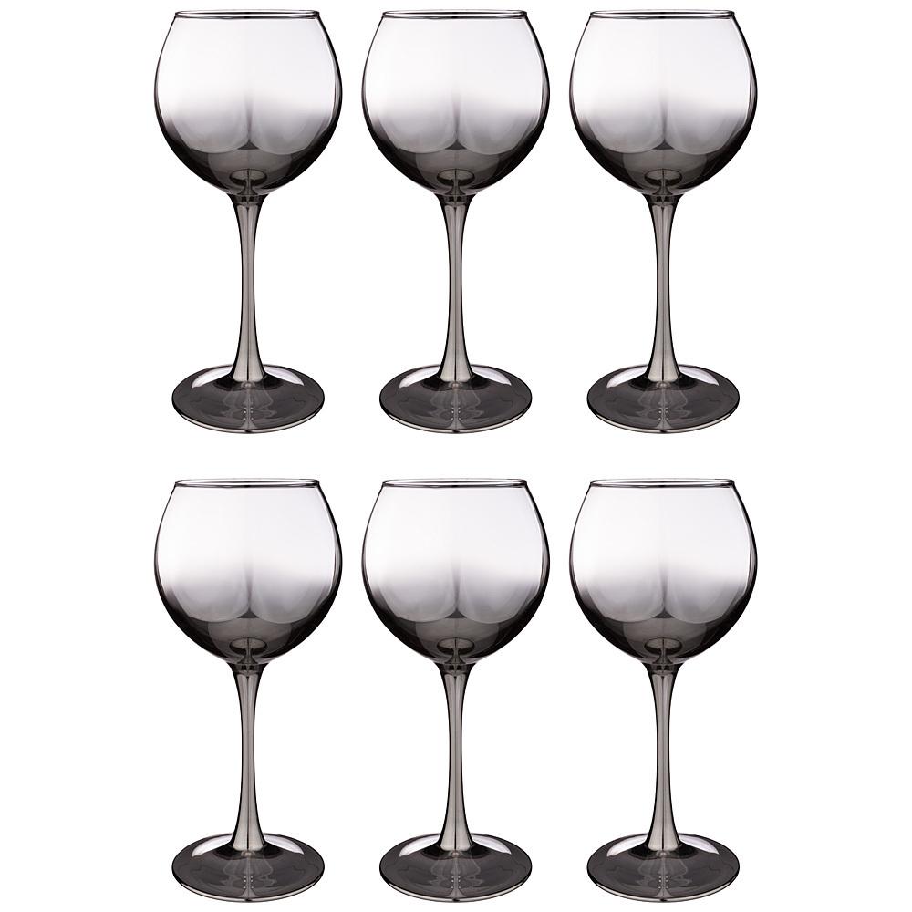 Набор бокалов для красного вина из 6 шт. Графитовый омбре, 350 мл набор стаканов glasstar графитовый омбре 310 мл 6 шт