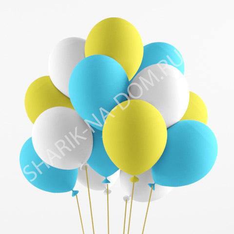 Облако из шаров Облако бело-голубых и желтых шаров Облоко_из_белых__жёлтых_и_голубых_шаров.jpg