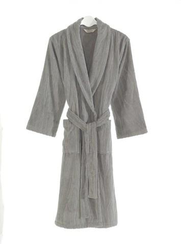 Мужской банный халат серый SORTIE