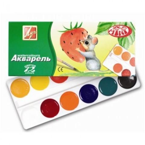 Акварельные краски Луч Zoo медовые 12 цветов