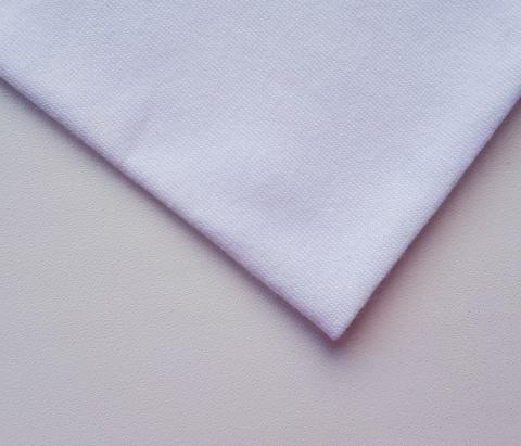 Кулирная ткань (100%- х/б) 15х15см, белый