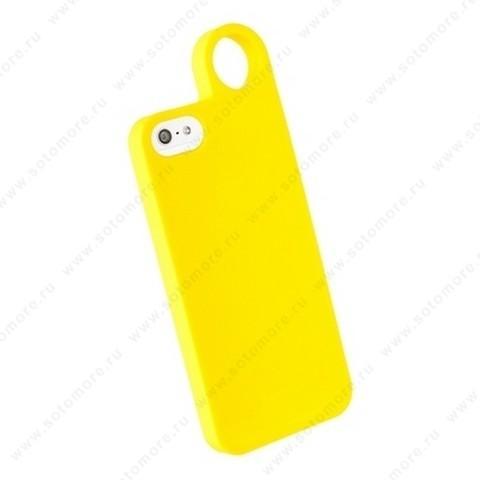 Накладка REMAX для iPhone SE/ 5s/ 5C/ 5 с кольцом желтая