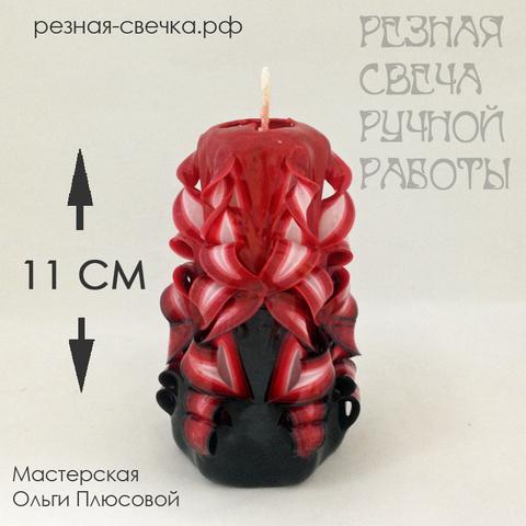 Резная свеча Фламенко Бантики 11 см