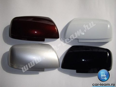 Накладки на зеркала на Лада Приора SE без повторителя поворотника, в цвет