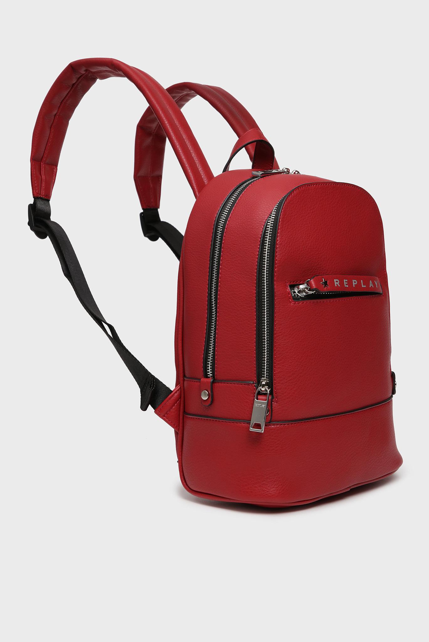 Женский красный рюкзак Replay