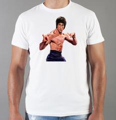Футболка с принтом Брюс Ли (Bruce Lee) белая 004