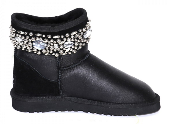 UGG & Jimmy Choo Crystals Metallic Black