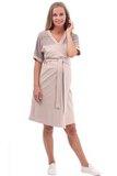 Комплект для беременных и кормящих с халатом и сорочкой 09914 мятный