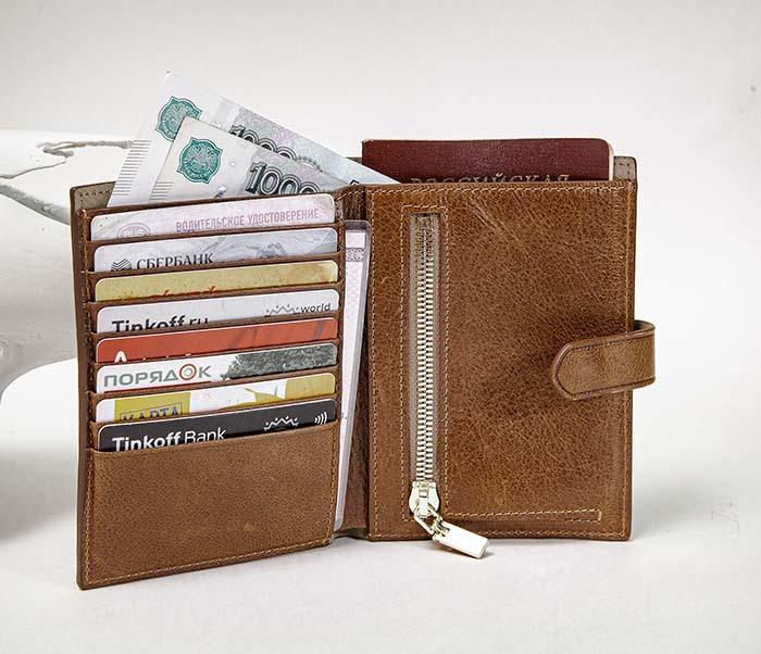 WL339-2 Портмоне для карточек, купюр и документов «Berger» фото 05