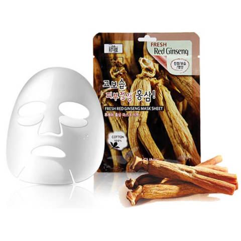 Тканевая маска для лица Красный женьшень 3W CLINIC Fresh Red Ginseng Mask Sheet 23 мл