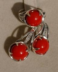 Ламбо (кольцо + серьги из серебра)