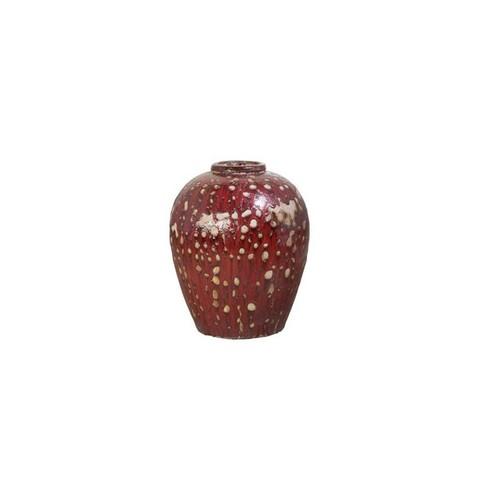 Кашпо (керамика) Mystic Ocean Wine Jar red, D34xH43см красно-белый