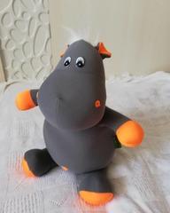 Подушка-игрушка антистресс «Бегемот Няша», оранжевый 4