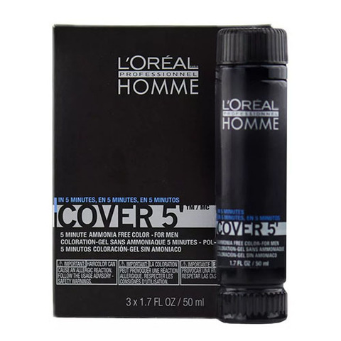 L`oreal Professionnel Homme Cover 5 №4 - Тонирующий гель (шатен)