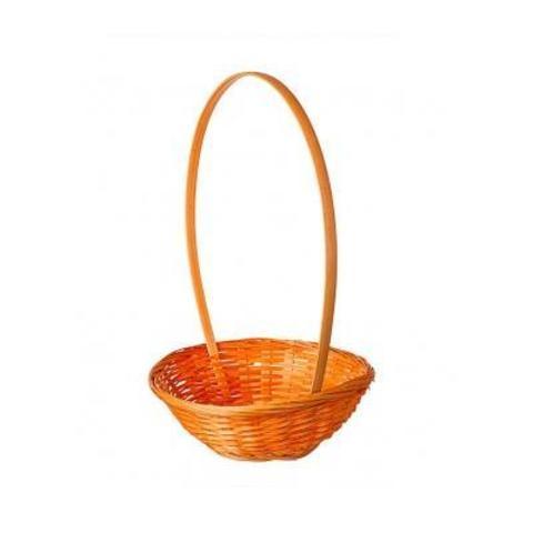 Корзина плетеная (бамбук), D19x5хH32см, оранжевый
