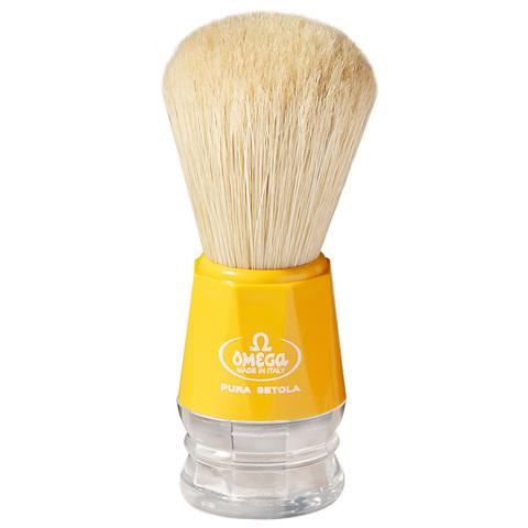 Помазок для бритья Omega натуральный кабан желтый 10018