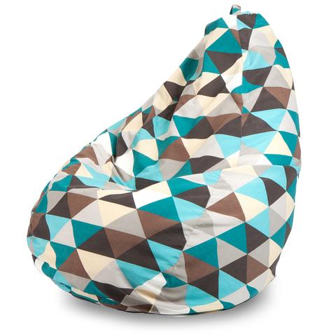 Бескаркасное кресло «Груша» XXXL, Ромб