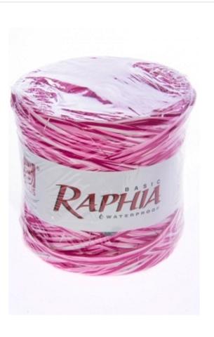 Рафия искусственная Микс Италия 200 м Цвет: розовый
