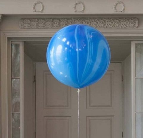 Большой шар-гигант Агат синий