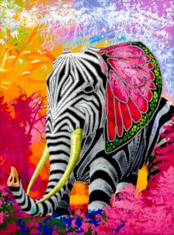 Алмазная Мозаика 20x30 Сказочное животное