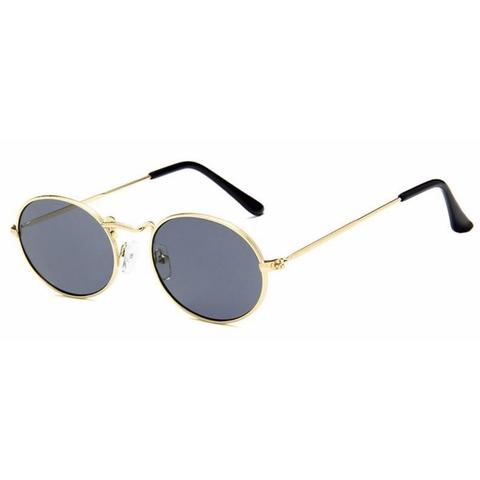Солнцезащитные очки 7046004s Черный с золотой оправой