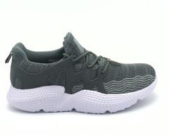 Кроссовки м серого цвета материал текстиль.