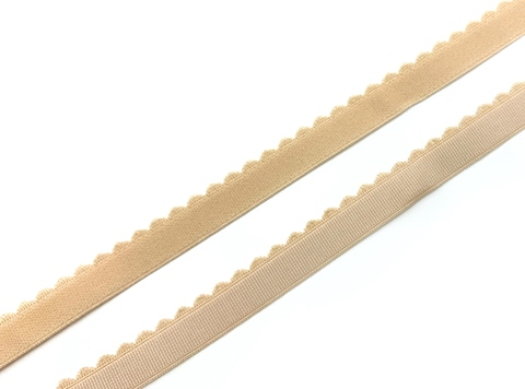 Резинка отделочная бежевая 15 мм (цв. 126)