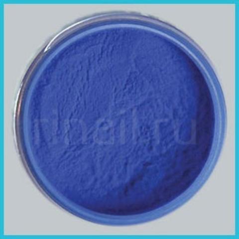 Цветная акриловая пудра Голубая с микроблестками