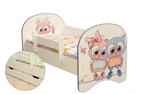 Кровать детская с фотопечатью Совята