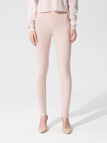Женские брюки светло-розового цвета с рельефными полосками из вискозы - фото 4